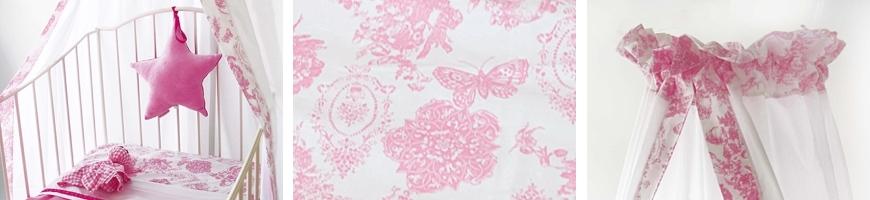 Toile Roze Vlinder - Cottonbaby