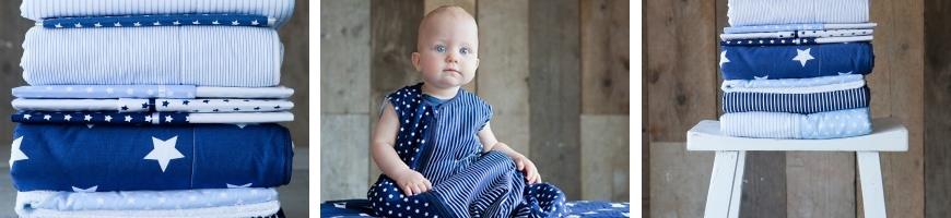 Blauw met witte ster - Little Dutch