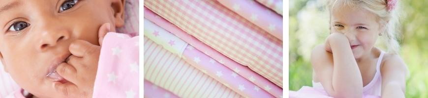 Roze met witte ster - Little Dutch
