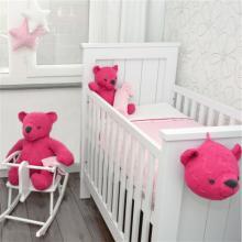 Kabel Roze / Wit gebreid - Baby`s Only