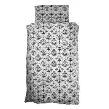Dekenhoes wieg 70x100 black & white - Jollein