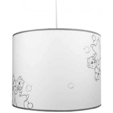 Hanglamp Knabbel en Babbel wit-grijs - Anel
