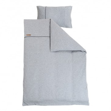 Dekenhoes ledikant Grey Melange - Little Dutch