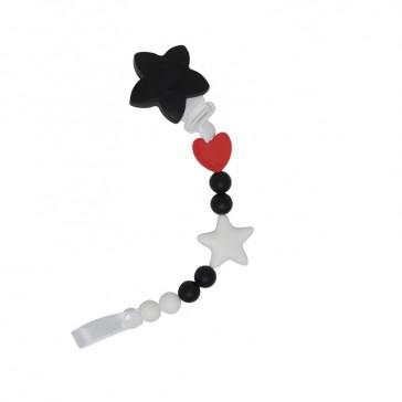 Speenkoord Chewelry soother zwart wit - Smartmama