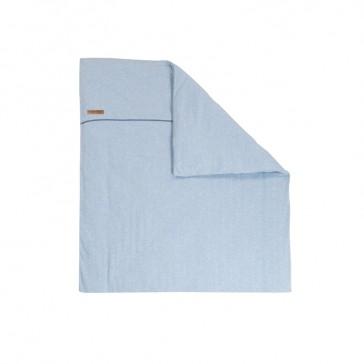 Dekenhoes wieg Blue Melange - Little Dutch