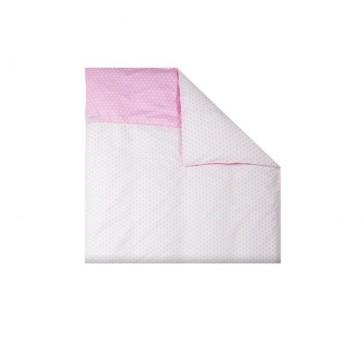 Dekenhoes wieg Roze ster – Little Dutch