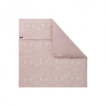 Dekenhoes wieg Adventure Pink - Little Dutch