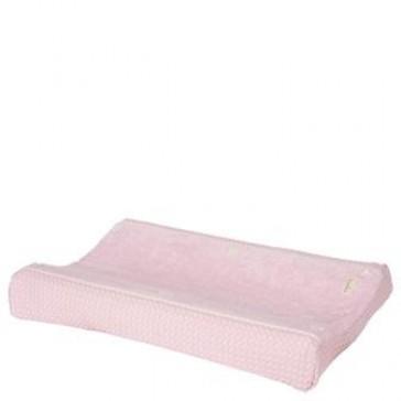 Aankleedkussenhoes Wafel met badstof Amsterdam Old Baby Pink - Koeka