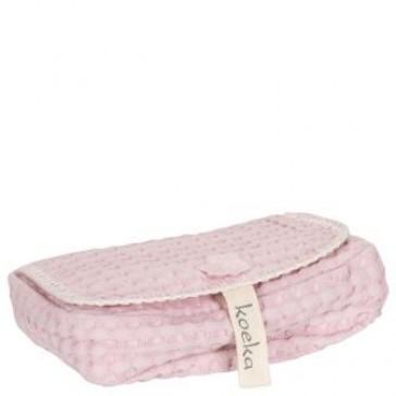 bewaarhoesje voor babydoekjes Antwerp old baby pink - Koeka