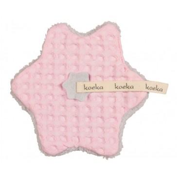 Speendoekje wafel met teddy Oslo Baby Pink / Silver Grey