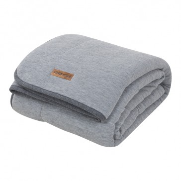 Ledikantdeken Pure&Soft Grey Melange - Little Dutch