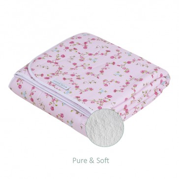 Wiegdeken Pure&Soft Pink Blossom - Little Dutch