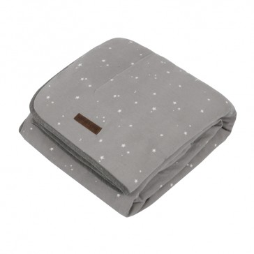 Wiegdeken Pure&Soft Little Stars Grey - Little Dutch