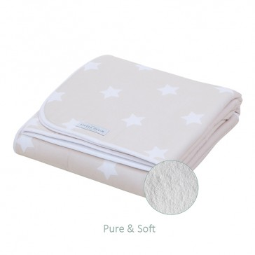 Wiegdeken Pure&Soft Beige grote ster - Little Dutch