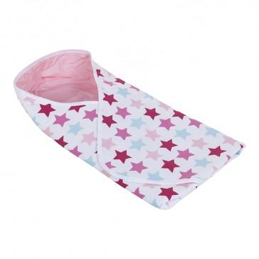 Omslagdoek Mixed Stars Pink - Little Dutch