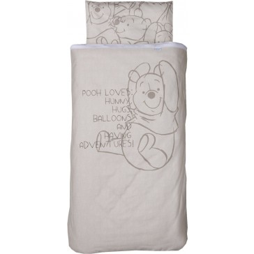 Dekenhoes wieg Pooh Bakkery brown – Anel