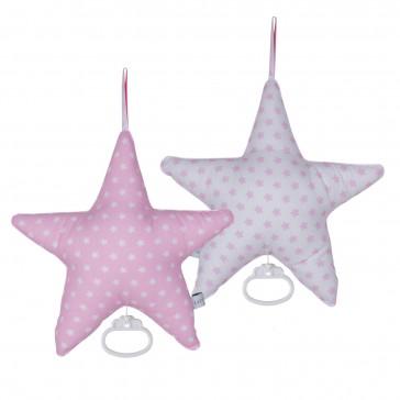 Muziekdoos Ster Roze met witte ster & wit met roze ster - Little Dutch