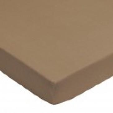 Hoeslaken ledikant badstof taupe 60 x 120 - Jollein