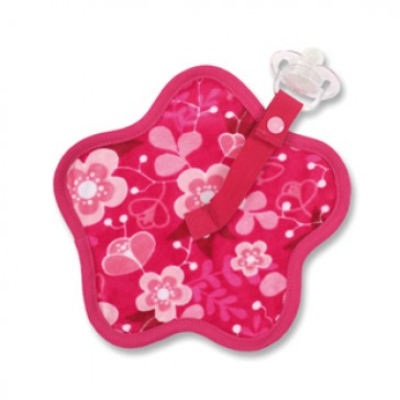 Speendoekje Akimi flower Fuchsia - Baby Boum