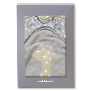 Geboorte geschenkdoos romper & badcape Youmi Misty - Baby Boum