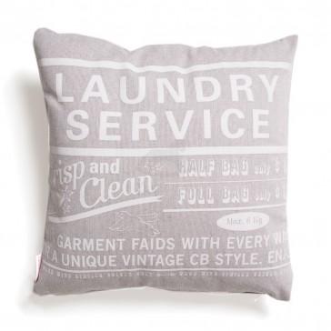 Sierkussen Laundryservice Bruin / Wit - Cottonbaby