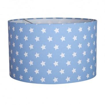Hanglamp Rond Lichtblauw met witte ster - Little Dutch