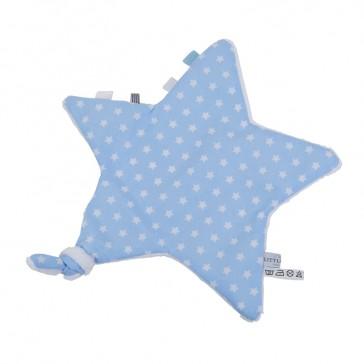Knuffeldoekje Ster Lichtblauw witte ster - Little Dutch