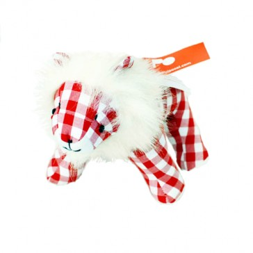 Knuffel Welp - Rood / Witte ruit - Pakhuis Oost