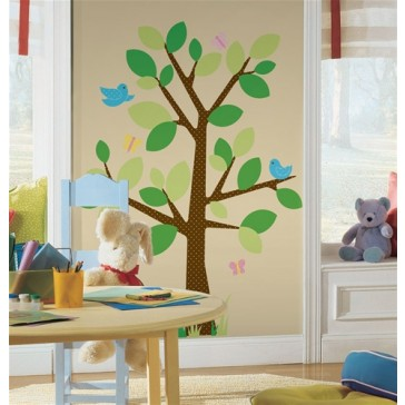Muurstickers Dotted Tree Grand Mural - RoomMates
