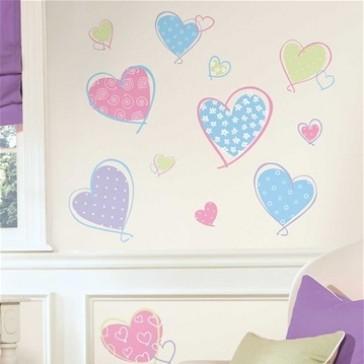 Muurstickers Hearts - RoomMates