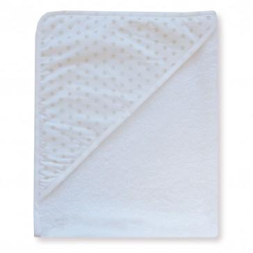 Badcape Sterretjes Wit met Zand - Cottonbaby