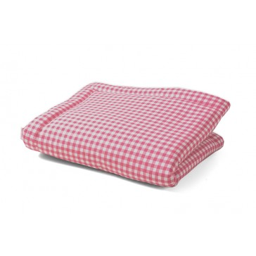 Boxkleed Ruit / Uni roze - Cottonbaby