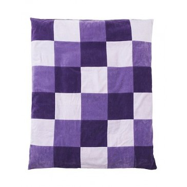 Boxkleed Colourful check paars 85x105cm - Jollein