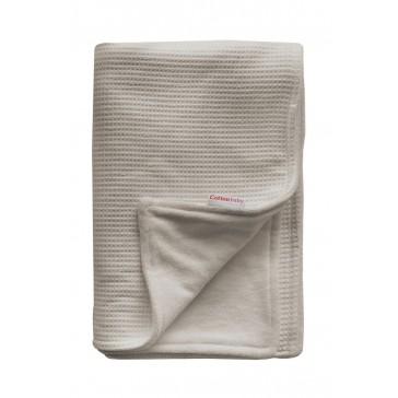 Ledikantdeken Wafel / Velours Zand - Cottonbaby