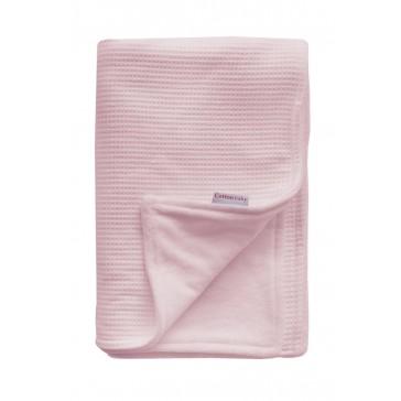 Ledikantdeken Wafel / Velours Roze - Cottonbaby