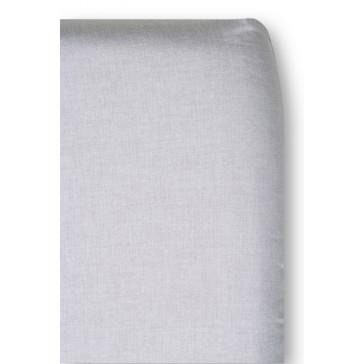 Hoeslaken Chambray Grijs voor ledikantmatras - Cottonbaby