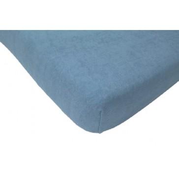 Hoeslaken ledikant badstof blauw 60 x 120 - Jollein