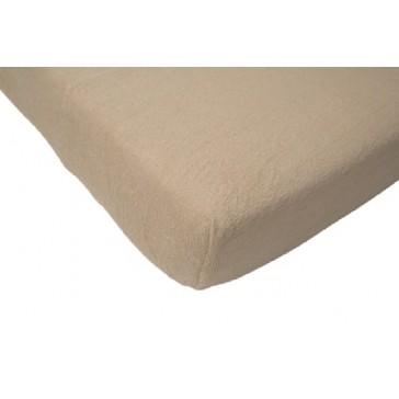 Hoeslaken junior badstof zand 75 x 150 cm - Jollein