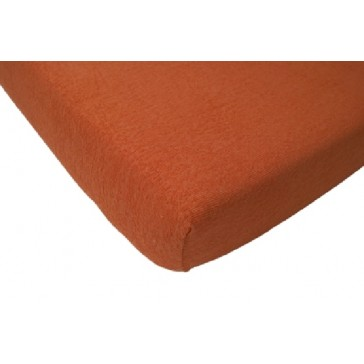 Hoeslaken ledikant badstof oranje 60 x 120 - Jollein
