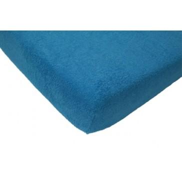 Hoeslaken junior badstof turquoise 75 x 150 cm - Jollein