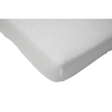 Hoeslaken wieg badstof wit 40 x 80 cm - Jollein