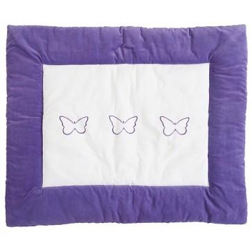 Boxkleed Butterflies white purple 85x105cm - Jollein