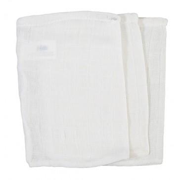 3 Hydrofiele washandjes wit - Jollein