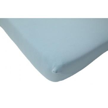 Hoeslaken ledikant jersey lichtblauw 60 x 120 cm - Jollein