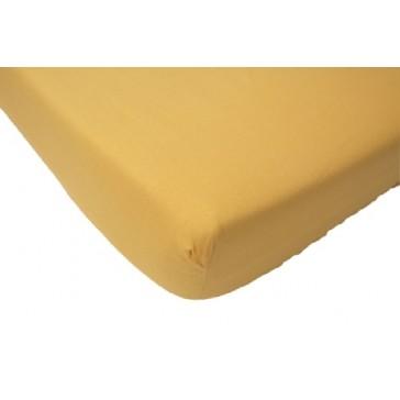 Hoeslaken wieg katoen maisgeel 40 x 80 cm - Jollein