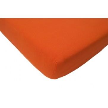Hoeslaken ledikant katoen oranje 60 x 120 cm - Jollein