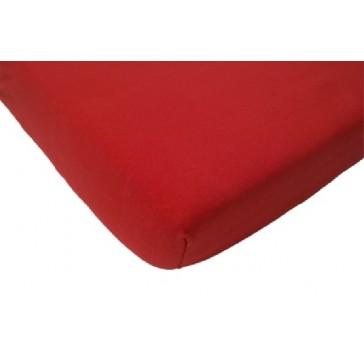 Hoeslaken ledikant katoen rood 60 x 120 cm - Jollein