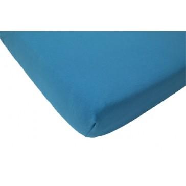 Hoeslaken ledikant katoen ecru 60 x 120 turquoise - Jollein