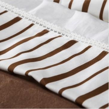 Ledikantlaken 120 x 150 met sloop Dots Stripes brown - Jollein