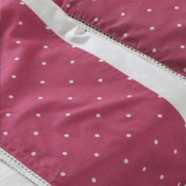 Ledikantlaken 120 x 150 met sloop Flower patchwork pink - Jollein